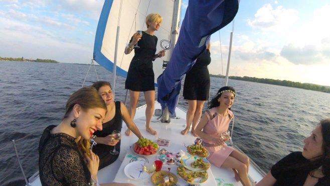 День рождения на яхте Киев