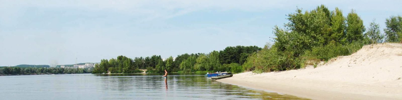 Остров Ольгин - водный отдых на яхте Киев