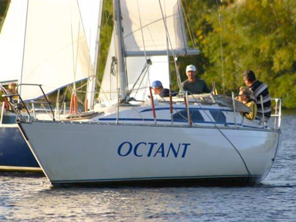 Парусная яхта ОКТАНТ на прогулке
