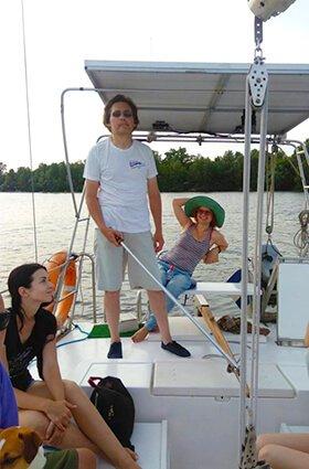 групповая прогулка на яхте