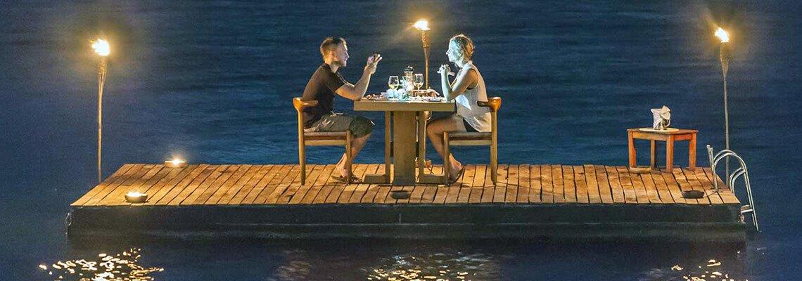 Романтический ужин с ночевкой на яхте