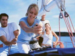 Обучение яхтингу - начальная практика